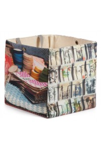 Boite-Brocante-Bric-a-brac-Maron-Bouillie-Cartes-postales-boutons-rubans-6