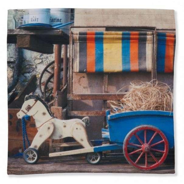 Vide-poche Cheval et charrette bleu