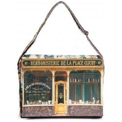 Sacoche-Paris-retro-Maron-Bouillie-Herboristerie-de-la-place-clichy-1