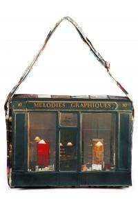 Shoulder-bag-Paris-retro-style-Maron-Bouillie-Melodies-graphiques-Calligraphy-1