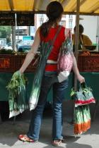 Sac à carottes multicolores avec légumes - Maron Bouillie Un petit tour au marché - sacs à courses