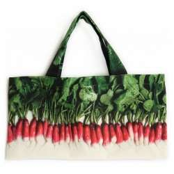 Radish bag front with Vegetable-Strolling-around-the-market-Maron-Bouillie