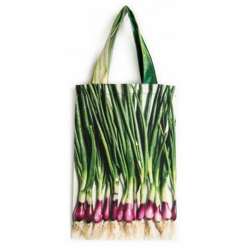 Sac à courses Un petit tour au marché Maron Bouillie Sac à ciboules avec légumes