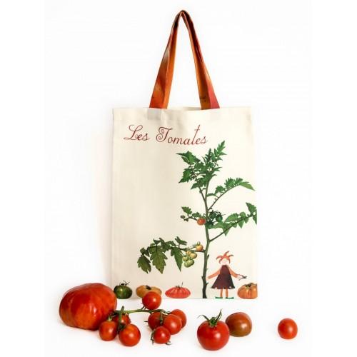 Tote Bag Les Tomates - Vegetable Kitchen - Maron Bouillie Paris