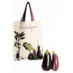 Tote Bag Eggplants - Vegetables - Kitchen - Maron Bouillie Paris