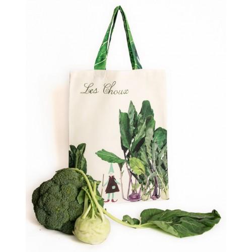 Tote Bag Cabbages - Vegetables kitchen - Maron Bouillie Paris