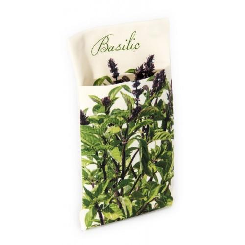 Wall pouch Basil - Vegetables Kitchen- Maron Bouillie - Paris
