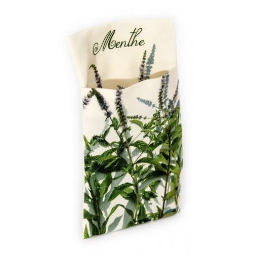 Wall pouch Mint - Vegetables Kitchen- Maron Bouillie - Paris