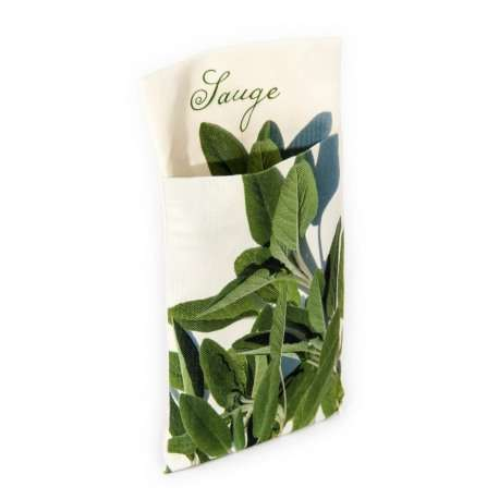 Wall pouch Sage - Vegetables Kitchen- Maron Bouillie - Paris