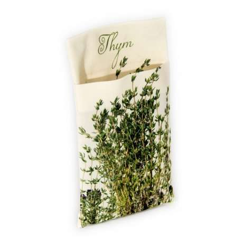 Wall pouch Thyme - Vegetables Kitchen- Maron Bouillie - Paris