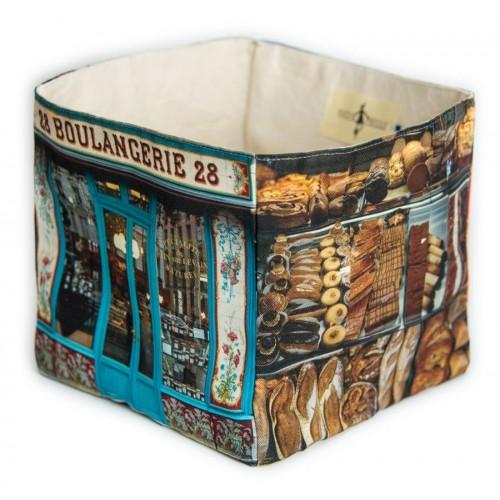 Boulangerie 28 home storage box - Paris retro style - Maron Bouillie