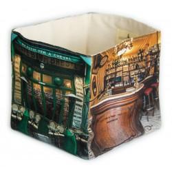 Café Au petit fer à cheval home storage box - Paris retro style - Maron Bouillie
