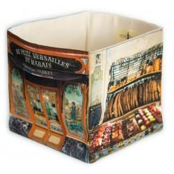 Au petit Versailles du marais Bakery home storage box - Paris retro style - Maron Bouillie