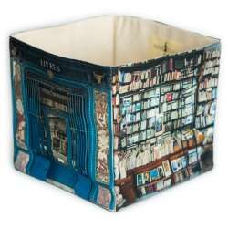 Le pont traversé bookstore home storage box - Paris retro style - Maron Bouillie