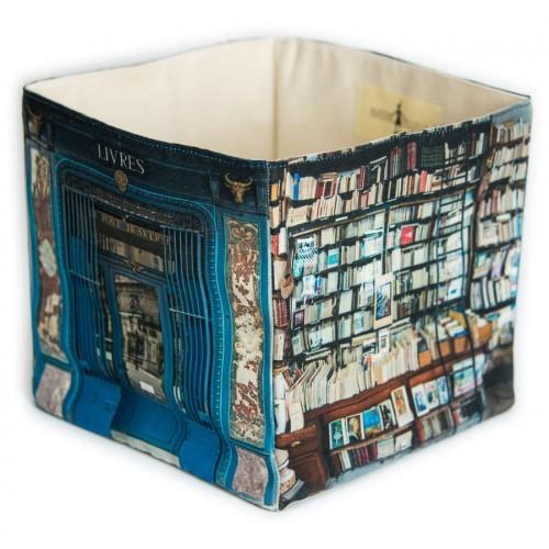 Le pont traversé bookstore home storage box - Paris retro style - Maron Bouillie