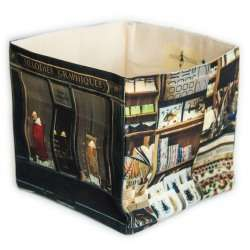 Mélodies graphiques Calligraphy home storage box - Paris retro style - Maron Bouillie