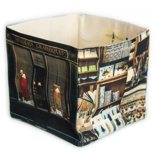 Mélodies graphiques Calligraphy home storage box - Paris retro style - Maron Bouillie