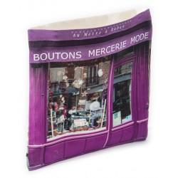 Haberdashery Au mètre à ruban Wall catch-all - Paris retro-style - Maron Bouillie