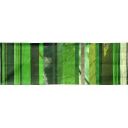 Tête à tête à rayures verticales vertes
