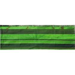 Cross runner with green horizontal stripes