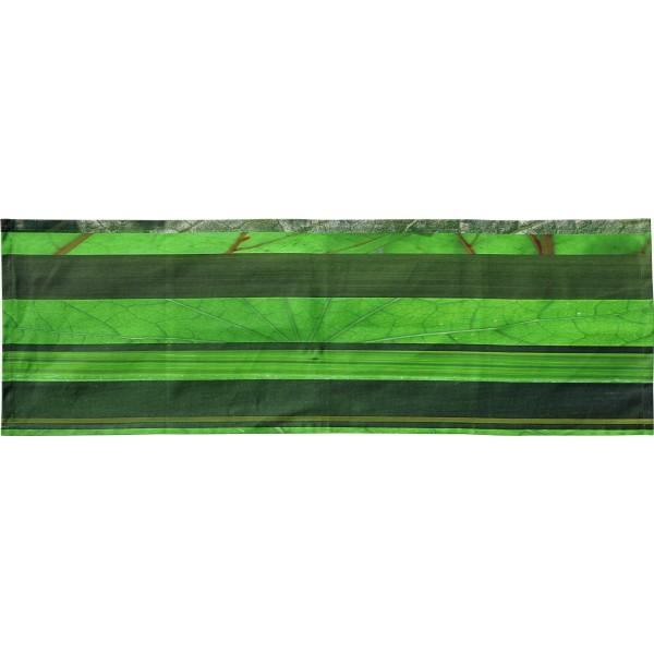 Cross runner with green horizontal stripes