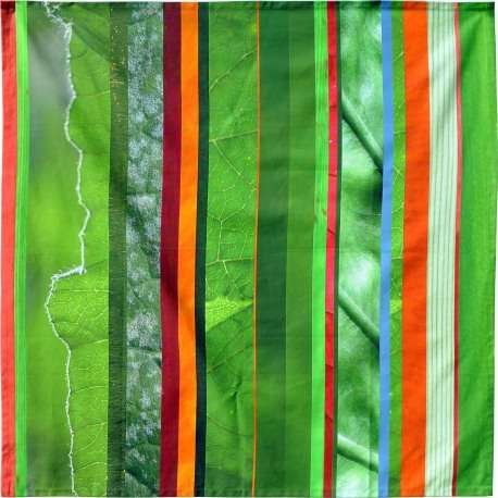 Tablecloth with multicolored stripes