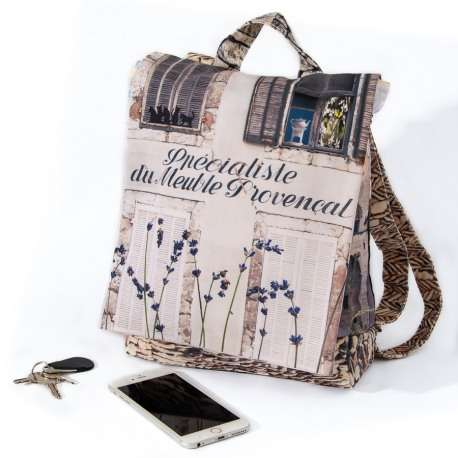 Backpack Provence white