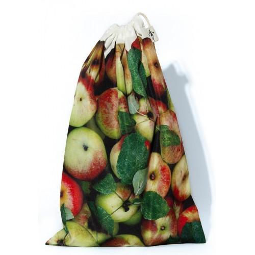Sac à vrac réutilisable Pommes pour courses ou rangement cuisine