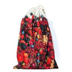 Red fruits Bag for bulk reusable - for shopping or Kitchen storage