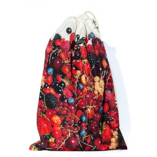 Sac à vrac réutilisable Fruits rouges pour courses ou rangement cuisine