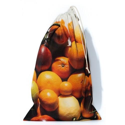 Sac à vrac réutilisable Agrumes pour courses ou rangement cuisine