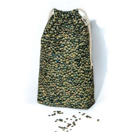 Green lentils Kitchen storage bag eco-friendly