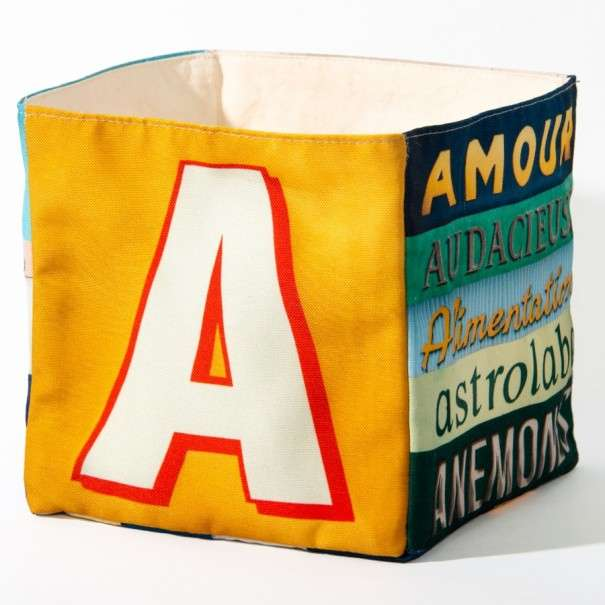 Alphabet fabric Box letter A