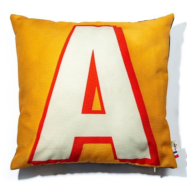 Housse de coussin alphabet lettre A