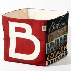 Alphabet fabric Box letter B