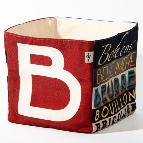 Alphabet fabric Box letter B