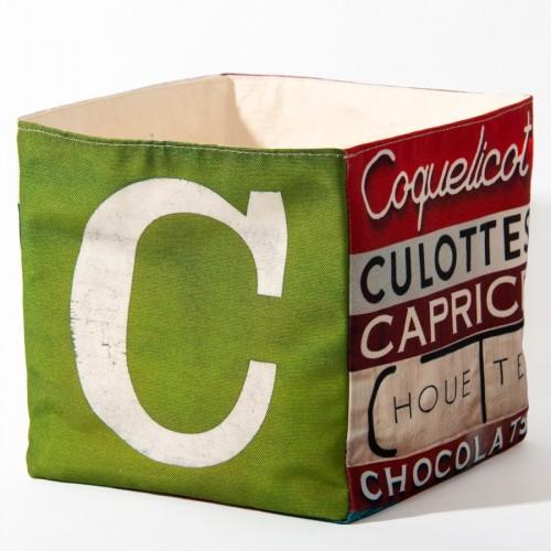 Alphabet fabric Box letter C
