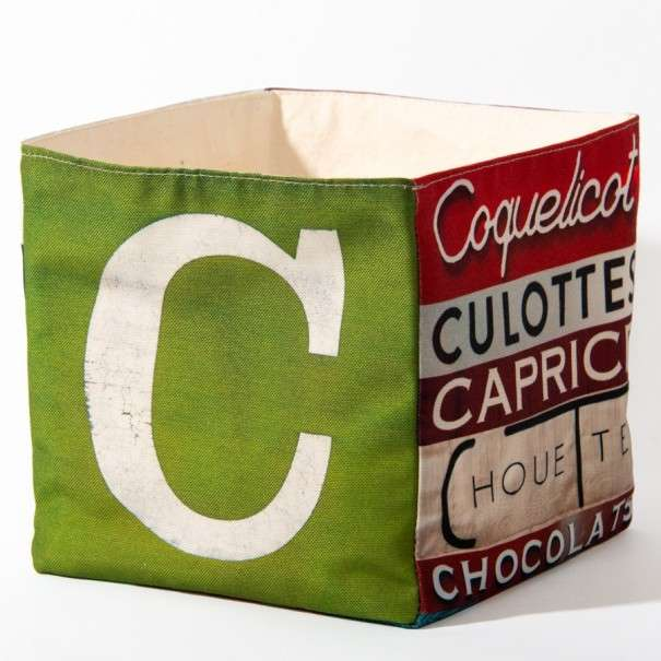Alphabet fabric Box letter C