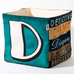 Alphabet fabric Box letter D