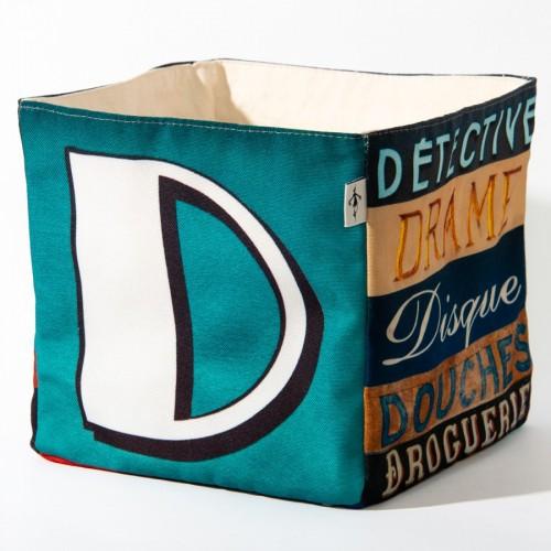 Alphabet fabric Box letter D