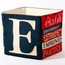 Alphabet fabric Box letter E