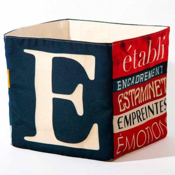 Alphabet fabric Box letter E