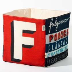 Alphabet fabric Box letter F