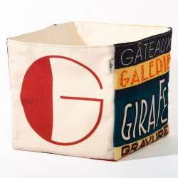Alphabet fabric Box letter G