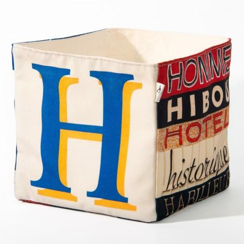 Alphabet fabric Box letter H