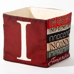 Alphabet fabric Box letter I