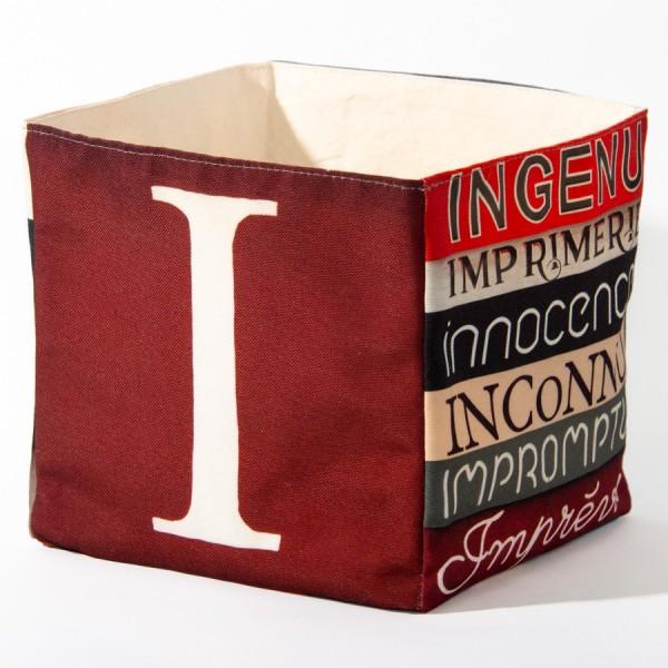 Alphabet fabric Box letter I
