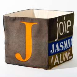 Alphabet fabric Box letter J
