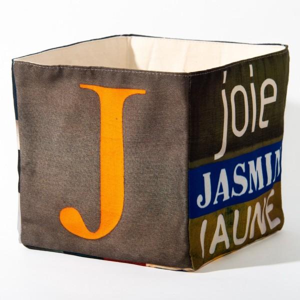 Alphabet fabric Box letter J