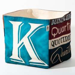 Alphabet fabric Box letter KQ